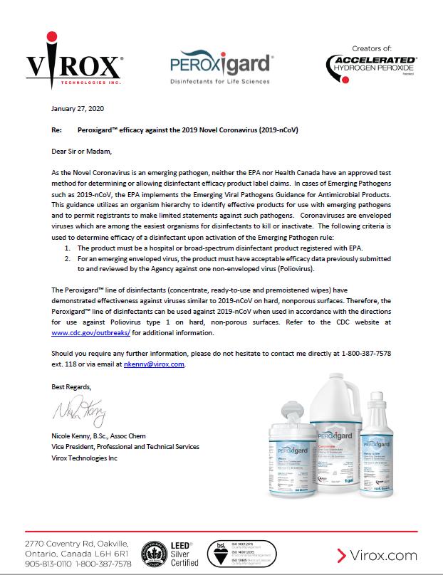 Efficacy against Coronavirus